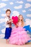 Spela för pojke och för flicka Royaltyfria Foton