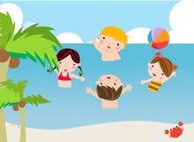 Spela för sommarbarn Arkivfoton