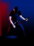 Spela gitarren Fotografering för Bildbyråer