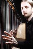 Spela harpan royaltyfria foton