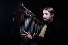 Spela harpan royaltyfri bild