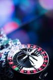 Spela i kasino Kasinotemabakgrund fotografering för bildbyråer