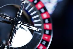 Spela i kasino Kasinotemabakgrund arkivfoton