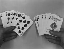 Spela kort för ångbåt 999 Arkivfoton