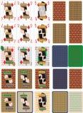 Spela kort för rummy och Cassino vektor illustrationer