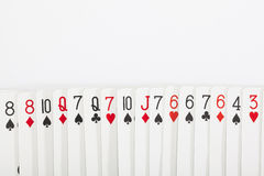 Spela kort, kasinobegrepp Arkivfoto