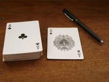 Spela kort och spela, pokerkort 05 arkivfoto