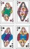 Spela kort. Queens Arkivfoton