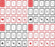 Spela kort som är unika För alla lekar royaltyfri illustrationer