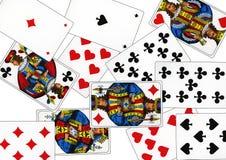Spela kort som kallas Piqued royaltyfri fotografi
