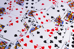 Spela kortbakgrundstextur Royaltyfri Bild