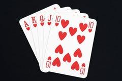 Spela kortet, rak spolning Fotografering för Bildbyråer