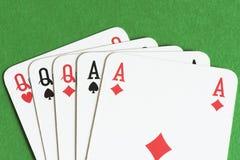 Spela kortet, utsålt royaltyfria bilder