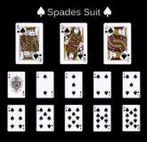 Spela kortspadedräkten Royaltyfria Bilder