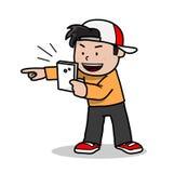 Spela låsmonsterleken på Smartphone Arkivfoto