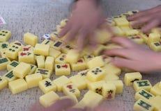 Spela Mahjong Royaltyfri Fotografi