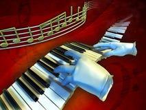 Spela musik Arkivbild