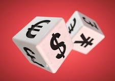 Spela på den finacial valutamarknaden Finansiellt råd concen Arkivfoton