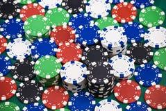 spela poker Arkivfoto