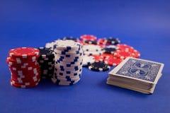 spela poker Arkivbild