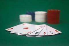 spela poker Royaltyfria Foton