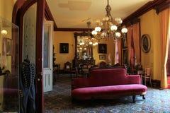 Spela rum med utsmyckat möblemang, Canfield kasino, 2014 royaltyfri bild