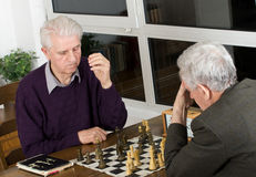 Spela schack Royaltyfri Foto