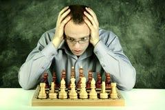 Spela schack Arkivbilder
