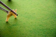 Spela snooker Royaltyfri Foto