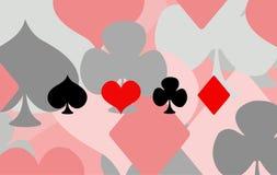Spela uppsättningen för symbol för kortdräktsymbol Royaltyfri Bild