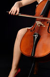 Spela violoncellen arkivfoton