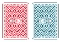 Spela zetaen för kortbaksida Royaltyfri Foto