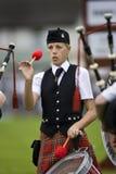spelar höglands- scotland Royaltyfria Foton