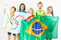 spelar olympic Rio de Janeiro Brasilien 2016 Arkivbild