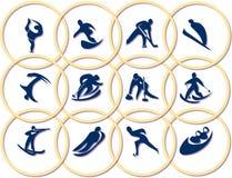 spelar olympic symboler vektor illustrationer