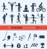 spelar symboler mest populär setsportvektor Royaltyfria Bilder