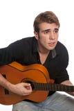 spelare för 02 gitarr Arkivfoton