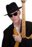 spelare för 3 gitarr arkivbild