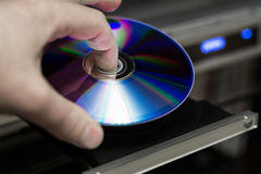 spelare för dator för bio 4d frambragd dvd Royaltyfria Bilder