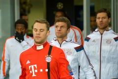 Spelare för FC Bayern Arkivbild