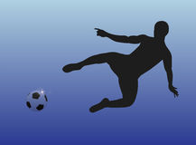 spelare för fotbollmålmanlig Arkivbild