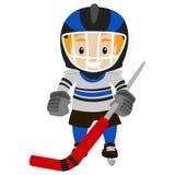 spelare för illustration för designhockeyis dig Royaltyfria Bilder