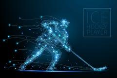 spelare för illustration för designhockeyis dig stock illustrationer