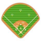 Spelare för plan och för bildande för baseballfält vektor illustrationer