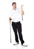 Spelare för yrkesmässig golf Fotografering för Bildbyråer