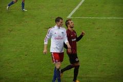 Spelare Marcell Jansen av den Hamburg sportklubban HSV royaltyfria bilder