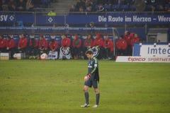 Spelare Rene Adler av den Hamburg sportklubban HSV fotografering för bildbyråer