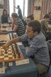 spelare två för schackmanspelrum Arkivbilder
