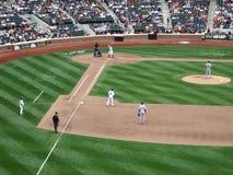 spelare york för fält för baseballcitistad nya Arkivfoto