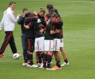 Spelareavsked för AC Milan Arkivbilder